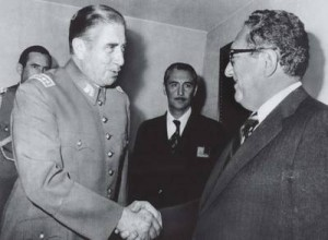 Mass murderers Henry Kissinger and Augusto Pinochet.